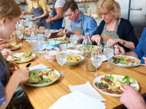 Privatkurser- gå en vegetarisk matlagningskurs med dina vänner