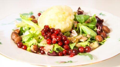 P4 Uppland- Lyxig vegetarisk trerättersmiddag med kroppkakor och hasselnötter