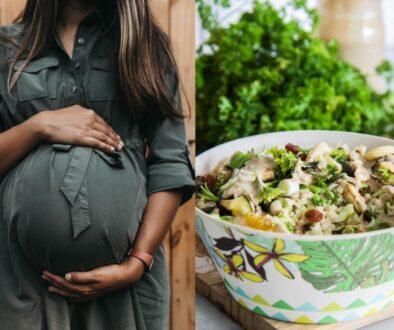 Järnrik mat för gravida