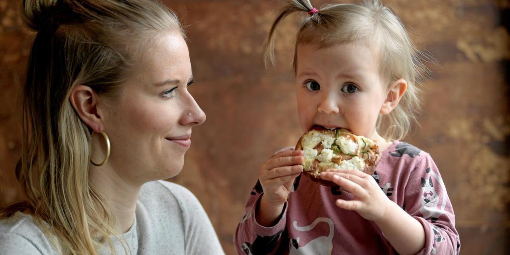 Vegetarisk barnmat för utflykten